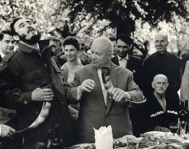 Fidel Kastro və Xruşşov Gürcüstanda 1963-cü il