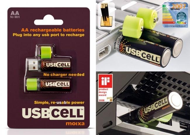 USB ilə şarj alan batareyalar